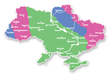 Жесткость воды на карте Украины
