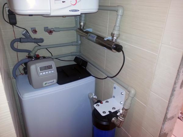 Фильтр очистки воды из скважины в ЖК Чайка, Киевская область