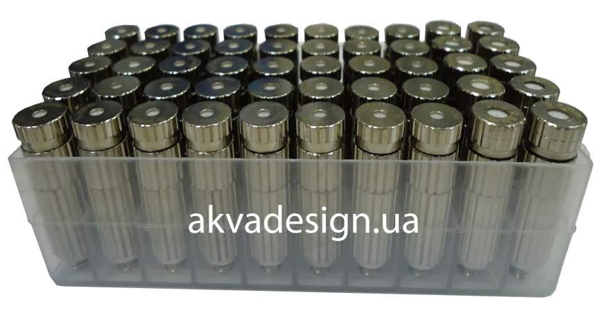 Форсунка туманообразователя латунь никель с фильтром и антикаплей MF 0.1mm - 3
