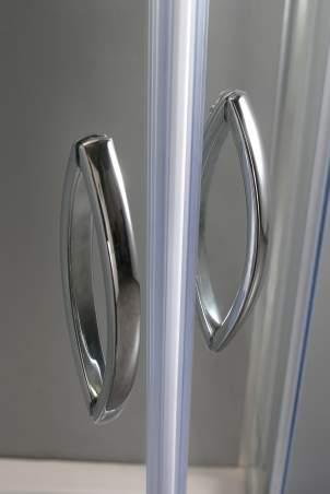 VOLLE FIESTA душевая кабина 90*90*200см на мелком поддоне, профиль хром, стекло прозрачное(10-22-157) - 5